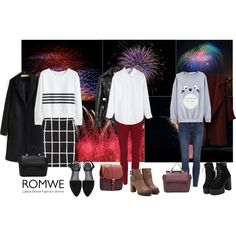 Watching the Fireworks by gabriele-bernhard on Polyvore featuring romwe