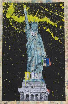 Liberty (Silkscreen and Mixed Media Signed 1/1) by Mr Brainwash