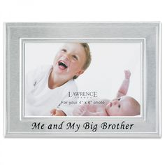 """Lawrence Frames """"Me and My Big Brother"""" Picture Frame in Brushed Satin Silver - 506264"""
