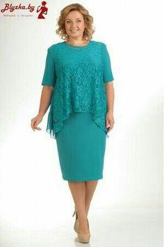 Chic dresses for full women of the Belarusian company Pretty, autumn-winter Elegant Dresses, Pretty Dresses, Clothing Patterns, Dress Patterns, Plus Size Dresses, Plus Size Outfits, I Dress, Lace Dress, Mothers Dresses