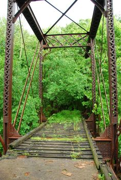 Off of Crawfordsville Rd.. Old railroad bridge ..