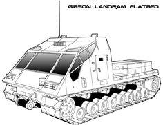 Traveller: Gibson Flatbed Landram by biomass on deviantART