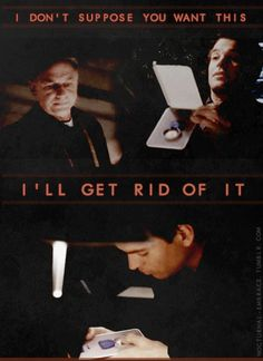 nocturnal–embrace:  Favorite scene pt.2   Tony: I don't suppose you want this.Gibbs: …Tony: I'll get rid of it.Gibbs: Go home, DiNozzo. It's late.Tony: Yeah, I'm just finishing up a couple things.  3x11 - Model Behavior