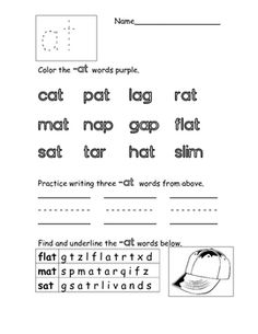 Printables Words Their Way Worksheets eg word family worksheet freebie language arts ideas short a families worksheets sydney hulbert teacherspayteachers com