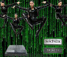 """The Matrix★trinity Flying Kick 13 1 4"""" Cold Cast Statue Neo★maquette Figurine   eBay"""