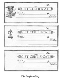 Blank Gift Certificates Saving Money  Free Printable Gift