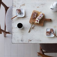 White & dark chocolate terrine made from tofu…
