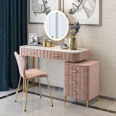 Modern Dressing Table Designs, Dressing Room Design, Bedroom Cupboard Designs, Girl Bedroom Designs, Girls Bedroom, Bedroom Decor, Minimalist Window, Modern Minimalist, Bay Window Dressing