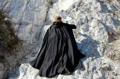 15% DISCOUNT Black Cloak On Watch Medieval Cloak by armstreet