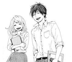 Orange manga Naho and kakeru on We Heart It Manga Girl, Manga Anime, Manga Love, Anime Love, Takano Ichigo, Image Couple, Photo Manga, Image Manga, Cute Anime Couples