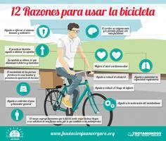 Resultado de imagen para infografia de hacer deporte en bici