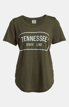 One of my favorite new brands.. Tennessee Wyatt Parker 'State Line' Backless Tee available at #Nordstrom
