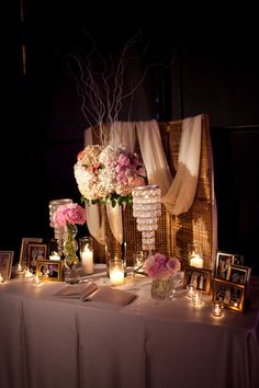 Country Gone Glam Wedding decor