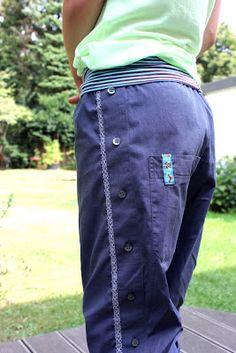 Pumphose  aus Herrenhemd