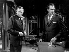 """""""The Fly,"""" Herbert Marshal and Vincent Price. 1958 20th Century Fox"""