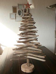 Weihnachtsbaum-Treibholz-Holz-natur-Shabby-chic-Deko-Baum-Schwemmholz