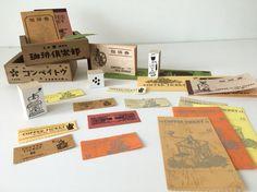 Japanese Retro Coffee Ticket by niconecozakkaya on Etsy
