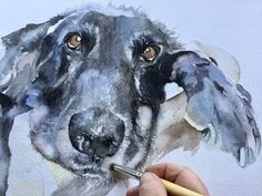 How to paint your dog in watercolor