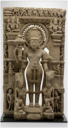 Vishnu the Preserver, 10th century sandstone (Image: Detroit Institute of Arts)