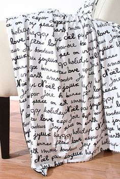 French Words Throw