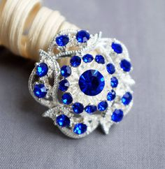 5 Dark Royal Blue Rhinestone Button Crystal Embellishment Wedding Brooch Bouquet Cake Hair Comb Shoe Clip BT517 by yourperfectgifts on Etsy https://www.etsy.com/listing/173067772/5-dark-royal-blue-rhinestone-button