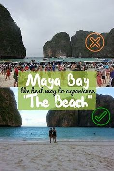 """Maya Bay: The BEST way to experience """"The Beach"""". We had the empty island to ourselves from sunset to sunrise! Read how we did it! by DrifterPlanet.com"""