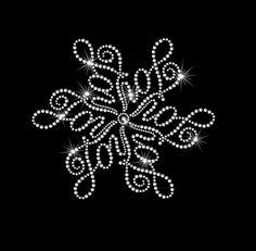 Snowflake With Joy Iron on HotFix by MyCreativeOutletTime on Etsy
