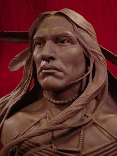 Wind In His Hair Clay Sculpture The artists captured movement of the hair which I really like