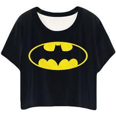 Black Cartoon Printed Ladies T-shirt ($10) ❤ liked on Polyvore featuring tops, t-shirts, shirts, black, cartoon t shirts, black comic book, t shirts, cartoon shirts and black shirt
