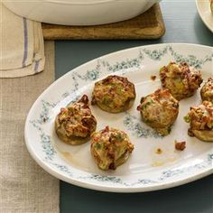 Bacon and Fontina Stuffed Mushrooms. Sounds like a great go-to recipe for stuffed mushrooms!