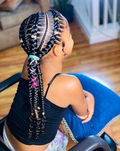 Black Kids Braids Hairstyles, Little Girls Natural Hairstyles, Baby Girl Hairstyles, Braids For Black Hair, Black Toddler Girl Hairstyles, Little Girl Braids, Braids For Kids, Cornrow Styles For Kids, Little Black Girls Braids