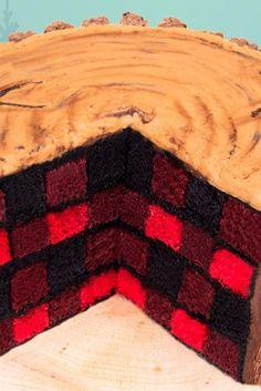 This Stunning Lumberjack Cake Is Better Than a Cozy Plaid Shirt – Renovieren vorher nachher Lumberjack Cake, Lumberjack Birthday Party, Pear And Almond Cake, Almond Cakes, Cake Cookies, Cupcake Cakes, Cupcakes, Checkered Cake, Baby Bump Cakes