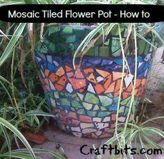 Mosaic Tiled Flower Pots