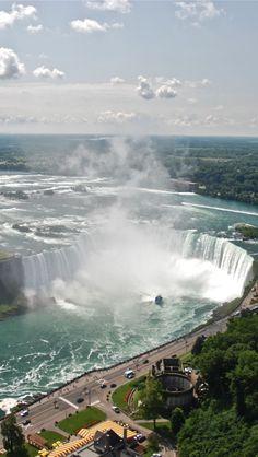 Niagara Falls Aerial , Canada iPhone 5 wallpapers, backgrounds, 640 x 1136
