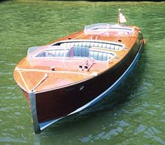Biscayne 18 foot classic mahogany runabout boat design you can build