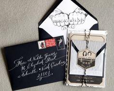 Oh So Beautiful Paper: Courtney + Paul's Brooklyn Wedding Invitations