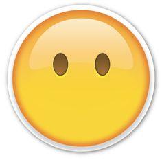 Muitos usuários costumam utilizar esse emoji para expressarem que estão muito assustados com alguma coisa por causa dos olhos esbugalhados. Por outro lado, o significado dele é muito mais simples que isso: o emoji sem bocas significa o silêncio, ou pessoas que preferem ficar quietas