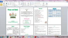 word document with landscape and portrait