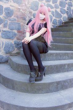 #nicinyaaa #nicimarshmellow #instagram #pastelgoth #pinkhair #spacebuns #otakj #cosplay #kawaii #pastel #pastelhair #tumblrgirl #mouthmask