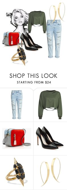 """""""Sin título #11"""" by romina-iglesias on Polyvore featuring moda, WithChic, J.Crew, Alexander McQueen, Noir Jewelry y Lana"""