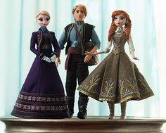 Elsa, Kristoff and Anna new dolls