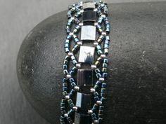 Bracelet Salikorn en perles Miyuki brillantes bleu par SaliKorn