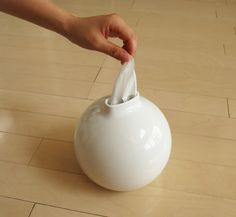 Paper Pot Tissue/Toilet Paper Dispenser by Ai Collection | Emmo Home