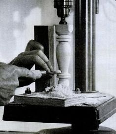 Drill Press Lathe: 9 Jigs and Guides for Drill Press Turning |