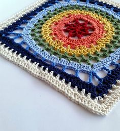 12″ square #crochet pattern for sale @spincushions