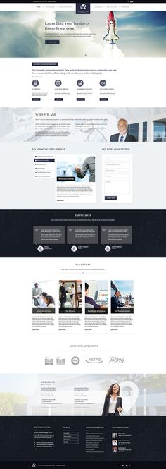 Landing page design for accounting website; Winter 2015Agency: Build Your Firm