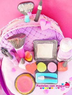 tarta maquillaje makeup cake