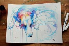 Image via We Heart It https://weheartit.com/entry/80138409/via/13802995 #colorful #dog #painting