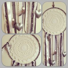 Dreamcatcher - White, Grey and Lace.