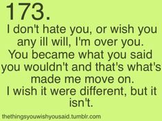 I wish my life was different.:(?